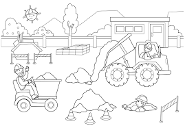 Small Picture Good Construction Coloring Pages 14 For Coloring Pages for Adults
