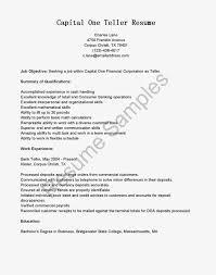 Objective On Resume For Bank Teller Resume Peppapp
