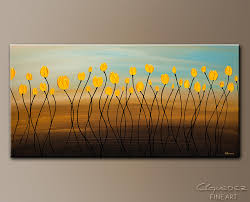 yellow tulips abstract art painting image by carmen guedez