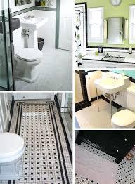 Retro Bathrooms Simple Black White Bathroom Tile Ashikco