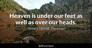 Henry Thoreau Quotes Unique Heaven Is Under Our Feet As Well As Over Our Heads Henry David