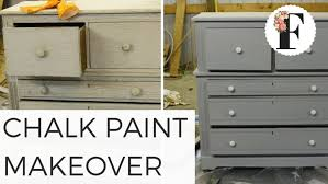 chalk painted dresser ideas maxresdefault paint makeover from gross to gorgeous salvaged diy with stained top before
