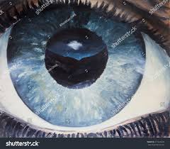 the human eye oil painting
