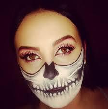 half skeleton half beauty makeup shannon carlyle