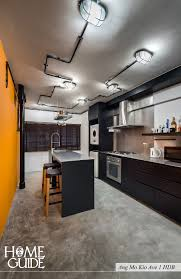 Industrial Kitchen Flooring Industrial Kitchen Interior Design At Ang Mo Kio Ave 1 Hdb