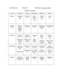 Lesson Plan Infants Week Of Nov Work Ideas Infant Lesson Plans