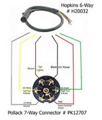 using a 6 way to 7 way adapter for a rv with 6 way round socket Hopkins Trailer Connector Wiring Diagram click to enlarge hopkins trailer adapter wiring diagram