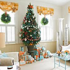 Of Living Rooms Decorated For Christmas Home Decoration Cheerful Lighted Christmas Decoration In Modern