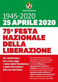 Celebrazioni Festa Nazionale della Liberazione 25 Aprile 2020