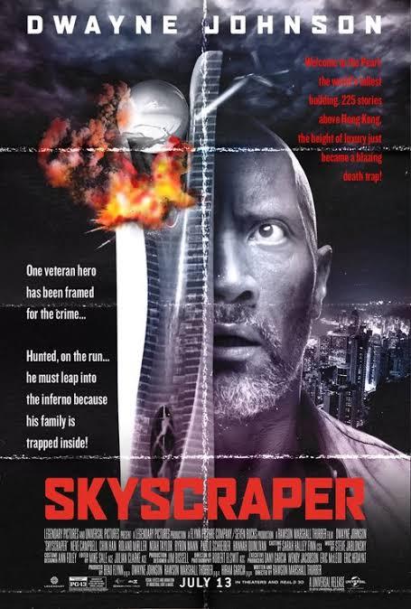 Skyscraper (2018) 480p HDCAM x264 [Dual Audio] [हिंदी (Cleaned) – English] – 350 MB