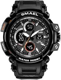 Amazon.co.jp: <b>sMael Men's</b> Sport Digital Analog Wrist <b>Quartz</b> Watch ...