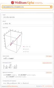 Cross Product Chart Posts Tagged With Vectors Wolfram Alpha Blog