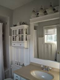 White Wood  April - Trim around bathroom mirror