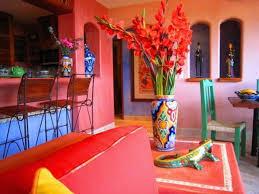 Small Picture interior design ideas interior design Mexican Art Wall color red