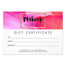 Beauty Gift Certificate Template Birthday T Certificate Template