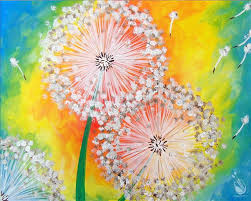 how to paint vibrant dandelion