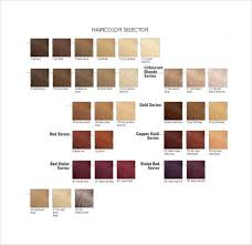 Sample Hair Colors Chart Free 8 Sample Hair Color Charts In Pdf