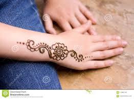 татуировка хны на малой руке девушки Mehndi традиционное индийское