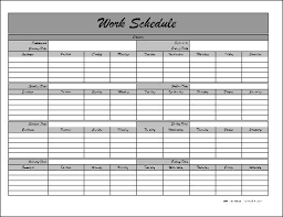 Schedule Monthly Template Monthly Schedule Template E Commercewordpress