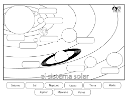 Small Picture Solar System Coloring Pages For Kids Coloring Home