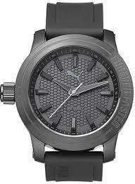 men s puma forever gunmetal silicone design watch pu103991002