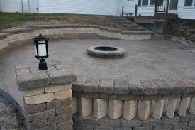 stamped concrete patio wi