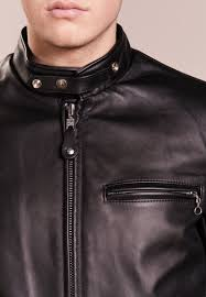 schott made in usa cafÉ racer leather jacket men clothing jackets blazers black
