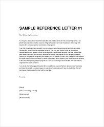 Letter Of Recommendation For High School Student Examples