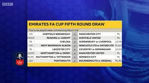 Arsenal to host manchester united in pick of the ties. Match Of The Day On Twitter Here S The Full Draw For The Facup Fifth Round Which Tie Catches Your Eye The Most Live Reaction Https T Co Rvhvekmmwm Bbcfacup Https T Co Fnhberf7fi