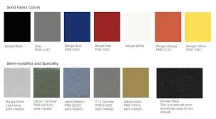 Tiger Powder Coat Color Chart Truss Trade Show Display Color Swatches
