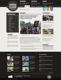 Website Template Newspaper Newspaper Web Template