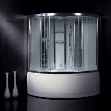 this pre assembled steam shower includes 12 sprayers a whirlpool tub chromatherapy