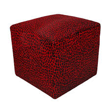 luxury cube cowhide ottoman with red spotted hair on hide cow stool pouf round ottomans coffee table furniture for your ideas leather cocktail black tufted