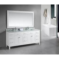 White Double Bathroom Vanities Modern White Bathroom Ideas