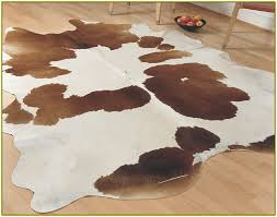 gorgeous design ideas white and brown rug simple brown and white cowhide rug