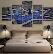 dallas cowboys 5 piece canvas wall art