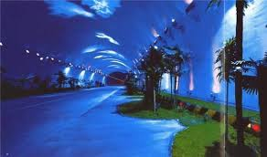 artistic lighting and designs. from the qinling zhongnan tunnel in china where artistic lighting and designs s