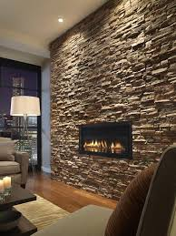 accent wall lighting with 31 stone ideas for various rooms digsdigs and 7 26 dark stacked slate the inset fireplace well placed on 550x734