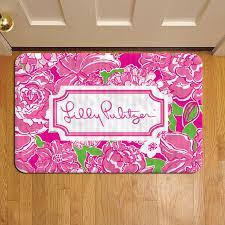 fl tropical pattern lilly pulitzer 907 door mat rug carpet