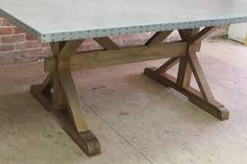images zinc table top:  zinc table top with special angle