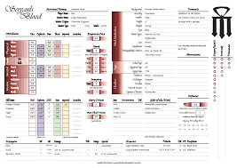 hero forge character sheet servants of the blood character sheet feedback archive rpgnet