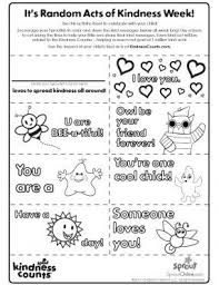 Random Acts Of Kindness 2 4 No Show Coloring Pages For Kids