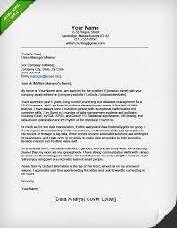 Data Analytics Cover Letter Professional Data Analyst Cover Letter Resume Genius Job Application