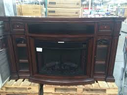 electric fireplace tv console costco well universal media mantel at budgetcostco inch stand with ember hearth