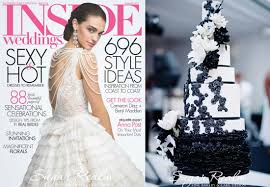 Black And White Wedding Cake Cincinnati Featured On Inside