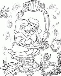 Little Mermaid Coloring Pages The Sun Flower Pages