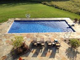 Rectangle pool designs and installations from custom inground swimming pool  builders in Wisconsin.