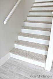 painted basement stairs. Brilliant Painted Stairs With Carpet Herringbone Treads And Painted White Risers Looks Like  A Runner Benjamin Moore Edgecomb Gray On Stairwell Wall And Painted Basement D