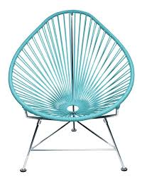 Amazon.com : Innit Designs Acapulco Chair, Blue Weave on Chrome Frame :  Patio Lounge Chairs : Garden & Outdoor