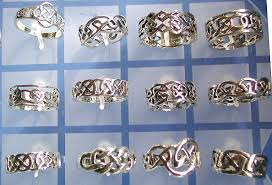 celtic hip hop jewelry whole celtic sterling silver ring celtic knot work fashion